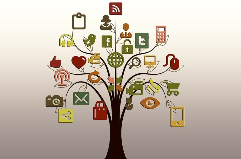 árbol redes sociales twitter facebook