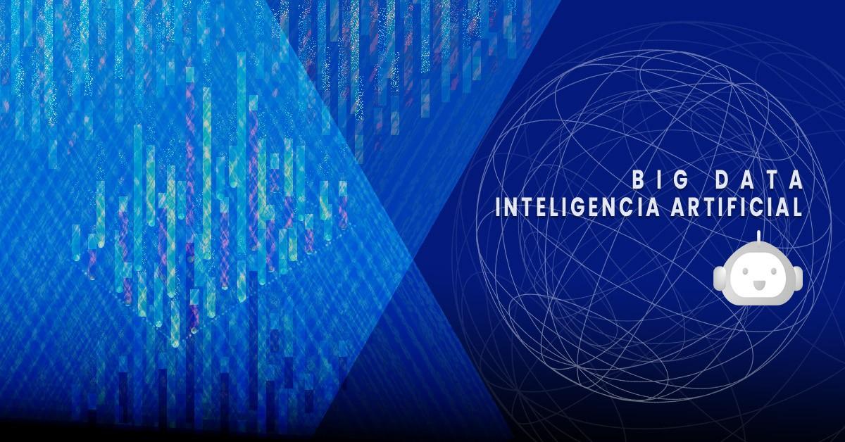 big data, dail software, inteligencia artificial, azul abstracto, tecnología, datos