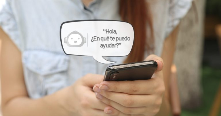 chatear, chatbot, inteligencia artificial, customer experience,teléfono, chica, empresa, branding, marketing, ventas