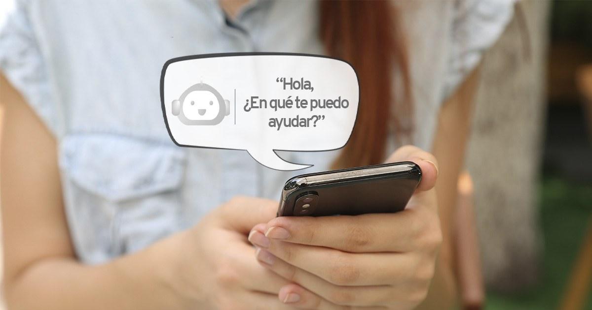chatear, chatbot, inteligencia artificial, customer experience,teléfono, chica, empresa, branding, marketing, ventas