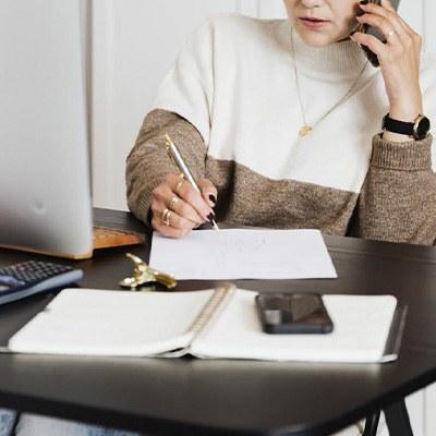 planificación, hojas, documentos, teléfono, trabajo