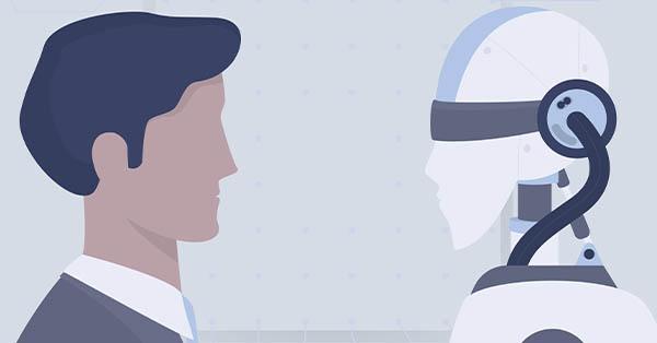 robot, humano, digitalización, empresas, industria 4.0